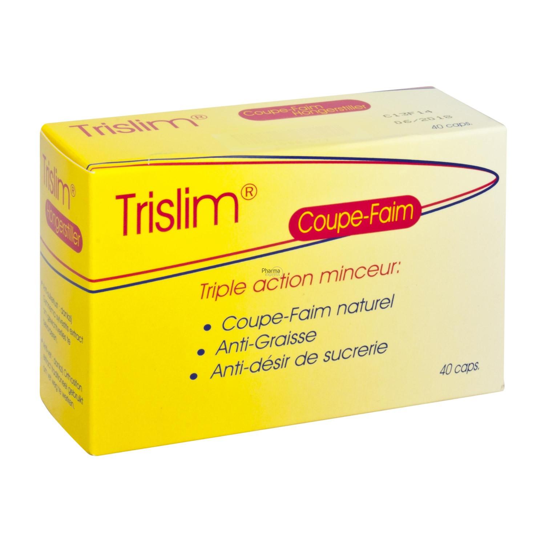 Trislim coupe faim 40 capsules - Medicament coupe faim en pharmacie ...